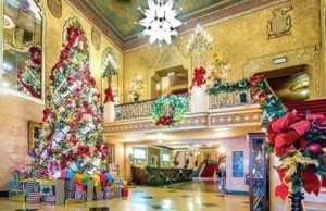 altheatre lobby is ready for Christmas thanks to glenkinnnyc hellip