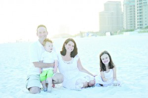 Melisa and her family on the beach. From left: Ed, Grayson, Melisa and Autumn Zwilling.