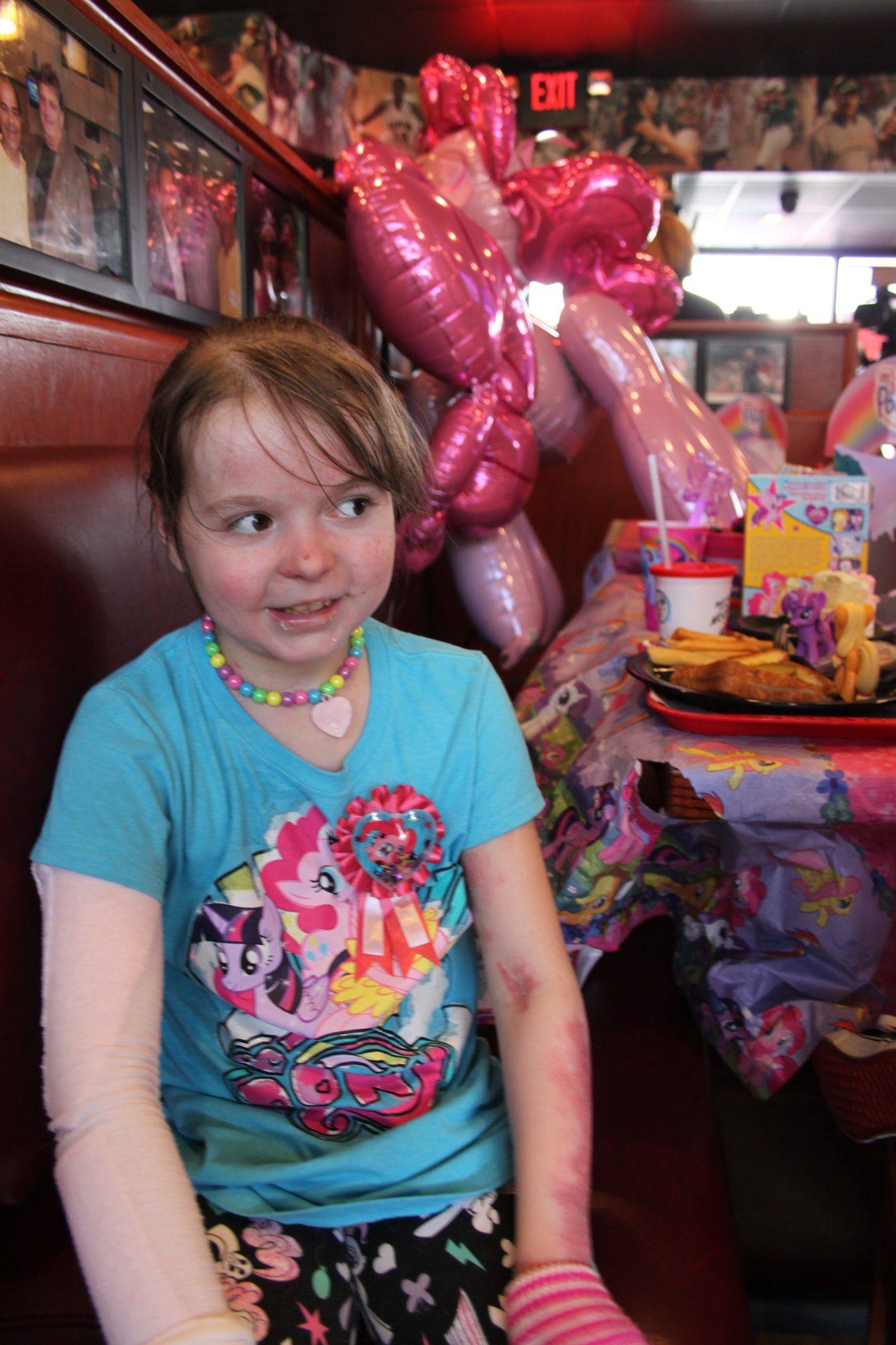 Nine-year-old Charlotte of Irondale found out today that she will be going to Disney World courtesy of Make-a-Wish Alabama. Journal photo by Kaitlin Candelaria