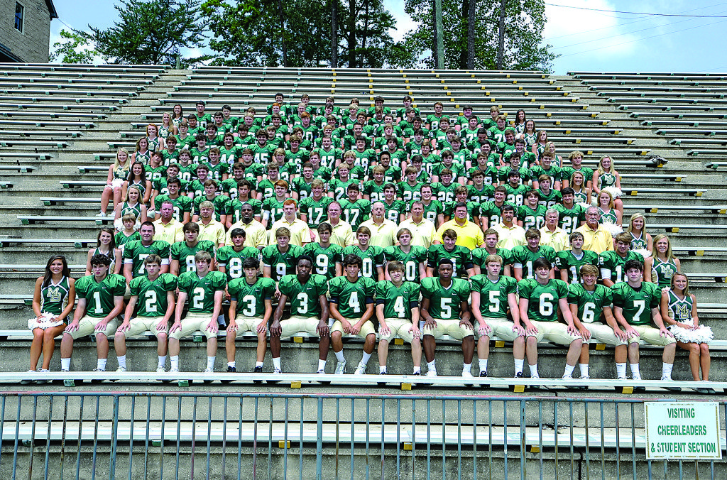 Members of the 2015 Mountain Brook High School Varsity Roster include: Joey Keating, Sean Elmore, Drew Smith, Aubrey Hart, Walker McCraney, Brinson Reed, McKee Brown, Chandler Cox, Fuller Neil, Harold Joiner, Charles Cobb, Dillon Sullivan, Owen Conzelman, William Garcia, Harrison Pyburn, Tillman Ritchey, Wilson Higgins, Connor Hart, Hamp Sission, Zachary Carroll, J.P. Darnall, Patterson Ware, Mac Campbell, Mason Dillard, Connor Adair, William Gullage, William Powell, Drew McMahon, Michael O'Leary, Bradford Page, Sam Everette, Payne Frost, Claiborne Crommelin, Stav Pappas, Max Sikora, Charlie Fell, Knox Taylor, Will Pardue, Tully Fulmer, Bailey Womack, Will Block, Will Wetzler, Hamilton Hewlett, Henry Barze, Robby Kent, Hill Cater, Isiah Chamoun, Stone Favrot, Perry King, Michael Smith, Harris Jeffords, Conner Bussman, Robert Randolph, Harrison Weaver, Jimmy Pham, Brawner Little, Mac Thomson, Chambers Joyce, Brad Jenkins, Wilson Golden, Will Leitner, Clay Stearns, Tanner Dean, Mabry Crane, Gary Baltz, Wills Taylor, Kemper Sanders, Joe Donald, Bradford Turner, Colton Yeager, Andrew Fuqua, John Lloyd Reed, Alex Pankey, Jack Grant, Jordan Weisberg, Sean Doud, Zach Morris, Bill Miller, Sam Kline, Conner Sorrells, Mickey Nichols, Nick Belt, Rix Curtis, Matthue Thrasher, Price Delk, Whit King, Justin Thompson, Ian Reilly, David Favort, Bond Elliott, Will Carothers, Jack Wilson, Drew Brown, Johnny Leara, Ryan Gaynor, Ford Williams, Mills Lowman, John Pelham, Christian Johnston, Forsyth Elliott, Jack Barron, Duncan Morris, Lawton Sparks, Wilder Williams, Miller Stevens, Reed Campbell, Connor Tierney, Spence Fulmer, Sims Herron, Henry Gaede, Mason Knowles, Harrison Ritchie, Harrison Johnston, Ford Alexander, McKinnon Cox, Sam Colvin, Eland Anthony, Joe Bird, Thomas Byrne, Archie Breland, Keone Gibbons, Will Bennett and Butler Wilbanks. Photo special to the Journal