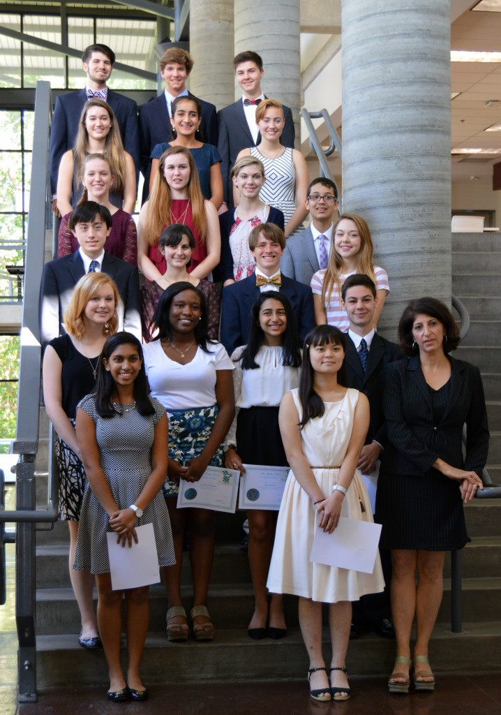 The 2015-16 Mu Alpha Theta inductees with Mu Alpha Theta sponsor Maha Awad. Photo special to the Journal