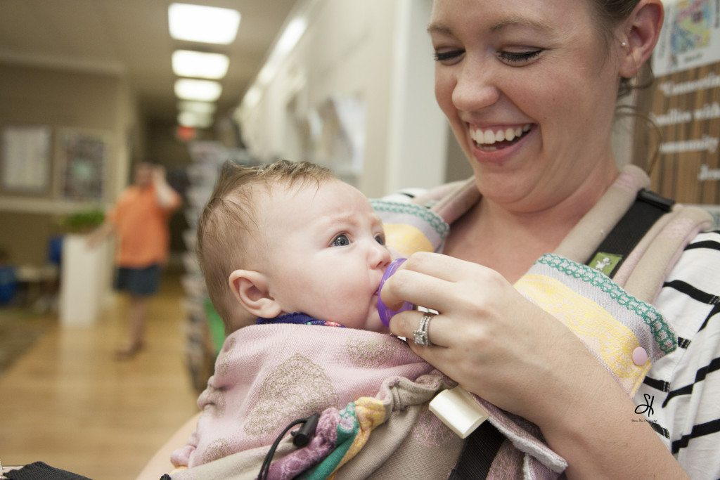 Mothers and babies alike attended the grand opening of the Auburn/Opelika depot last month. Photo courtesy of Sherina Hill.