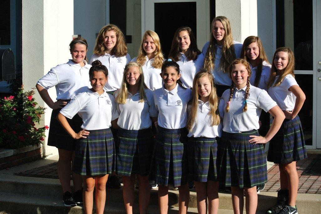 Front, from left: Sofia Restrepo, Anna Grace Yerkes, Maela Banks, Melanie Sullivan and Evie Moellering. Back: Mary Beth Parmer, Amelia Pugh, Jeanie Smith, Caroline Franco, Summer Killin, Abby Morel and Mary Caroline Atkins. Photo special to the Journal