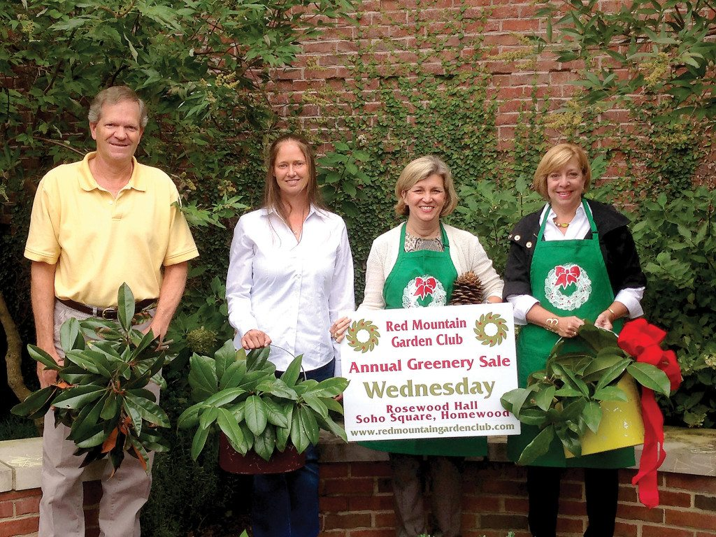 Organizers preparing for Red Mountain Garden Club's Annual Greenery Sale include, from left: Pratt Brown, Pratt Brown's Landscapes; Kate Newton, Landscape Services and Kimberly Bean and Amy Ager, Greenery Sale Co-chairmen. Photo special to the Journal