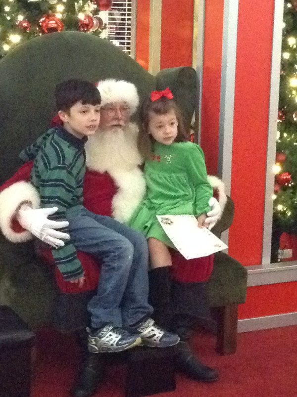 Children were able to enjoy meeting with Santa without crowds, loud noises or bright lights. Photo special to the Journal