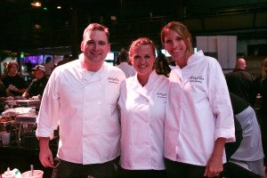 Chef Chris Murchison, Christelle Nelson and Ashley McMakin.