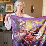 A Hunting She Will Go: Local Artist's Wildlife Painting Used as Pattern for Commemorative Scarf