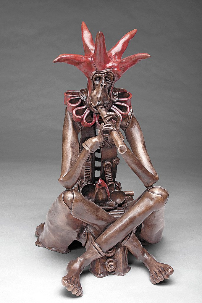 """""""The Piper is Calling"""" (bronze) by Nelson Grice will be available at the upcoming Magic City Art Connection."""