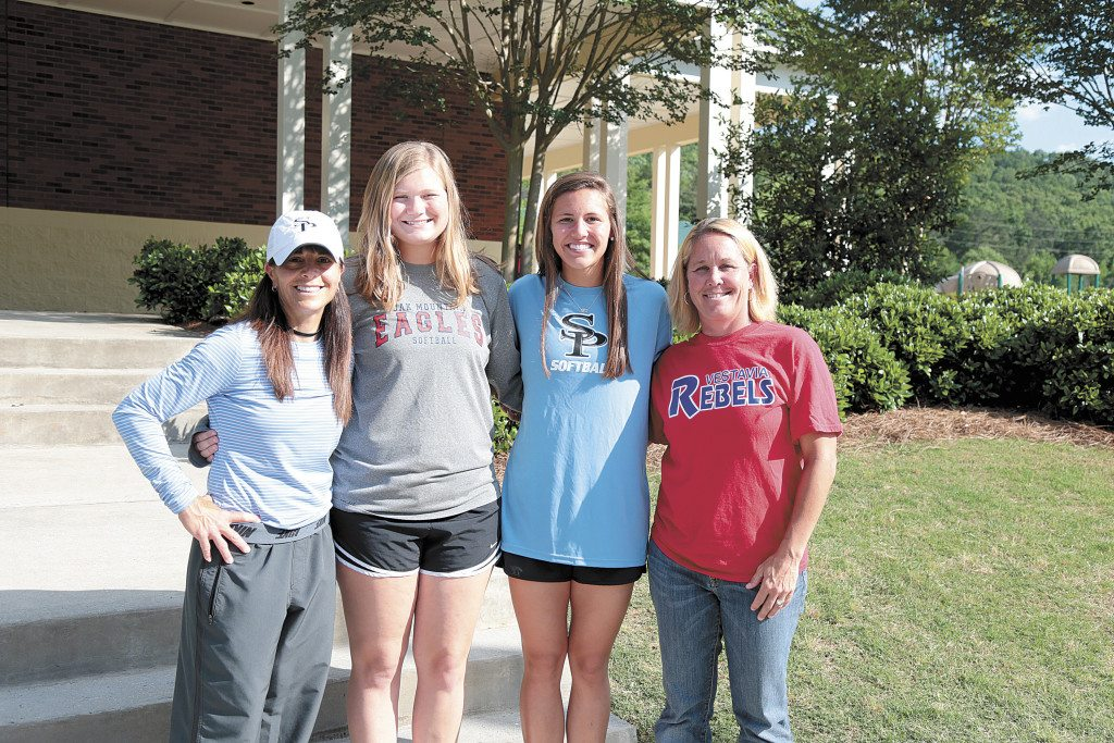 Pictured, from left, are Spain Park's C.J. Hawkins, 2016 co-Coach of the Year; Oak Mountain's O'Neil Robertson, 2016 co-Player of the Year; Spain Park's Mary Katherine Tedder, 2016 co-Player of the Year, and Vestavia Hills' Lissa Walker, 2016 co-Coach of the Year.