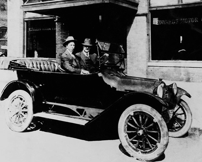 Sterling Edwards takes a test drive with Louis Chevrolet. Without even a high school diploma, Edwards started selling cars while supporting his family.