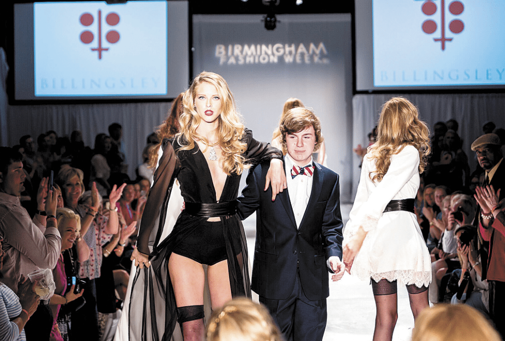 "Birmingham Fashion Week veteran and Vestavia Hills High School sophomore Bradford Billingsley,  featured on ""Project Runway: Threads,"" will graduate to the main stage this year and show a collection of runway gowns. Photos courtesy of Birmingham Fashion Week."