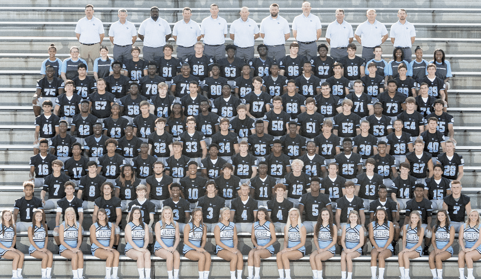 Members of the 2016 Spain Park High School varsity football team include D'arie Johnson, Andrew Mader, Landon Shoemaker, Zach Evans, Myckael Walton, Josh Denson, William Mee, Jaden Jenkins, Mason Pronk, Damon Wright, Emmanuel Holsey, Jalen McMillian, Rayfe Richey, Braxton Barker, Clay Christian, Ronald Carl, Tony Wendes, Jo Jo Dennis, Isiah Bonilla, Damarius Farmer, Hunter Howell, Thomas Branin, Colin Kirkpatrick, Ryan Griffin, Omar Angel, Mario Davis, Darion Keahey, Nicholas Dixon, Kameron Mcdaniel, Cole Starr, Cameron Toyer, Brandon Simmons, Jalen Henderson, Cedric Tooson, Larry Wooden, Victor Davis, Jack Connell, Thomas Jordan, Kenyon Hines, Tyrece Mickens, Braxton Hall, Robert Cook, Scott Moates, Houston Hollis, Darrian Stringer, Zachary Robinson, Peyton Maner, Gaven Pudlik, Hayden Callegan, Hayes Cole, Reed Vella, Josiah Johnson, Kishawn Dawsey, Mark Muir, Daris Robinson, Ja Cory Robinson, Johnathon Harland, Joshua Stanton, Nicholas Cotumaccio, Will Mullins, William Mote, Josh Wallace, Caleb Foster, Josh Mullins, Alexander Kassouf, James Schweer, Bredt Stover, Burrell Boswell, Layth Thiab, Colton Punzel, Ethan Prolsdorfer, Broderick Polk, David Shannon, Ryan Campbell, Abdulrahman Deeb, Casen Browning, L.J. Murray, Devin Dowdle, Michael Fowler, Claudio Sarniguet, Jayme Simmons, Jalen Johnson, Cameron Young, Michael Rogers, Marcellus Payne, Ashanti Carter, Michael Allen, Luke Blackmon, Jake Carver, Christian Richburg, Davis Brown, Steven Pate, Layth Abusuad, Jacob Pughsley, Douglas Henze, Isiah Johnson, Clifford Robinson, P.T. Vercher, Kalik Mallard, Zac Shaw, Tyrese Hollamon and Joseph Reece.