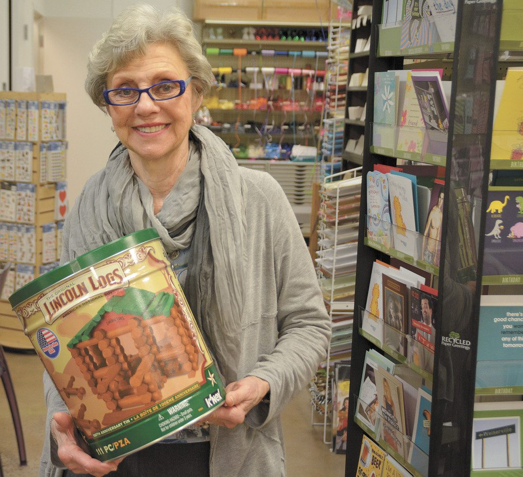 Mary Anne Glazner, owner of Smith's Variety in Crestline Village, says you can't go wrong with a classic like Lincoln Logs, invented by John Lloyd Wright, son of famed architect Frank Lloyd Wright around 1916.