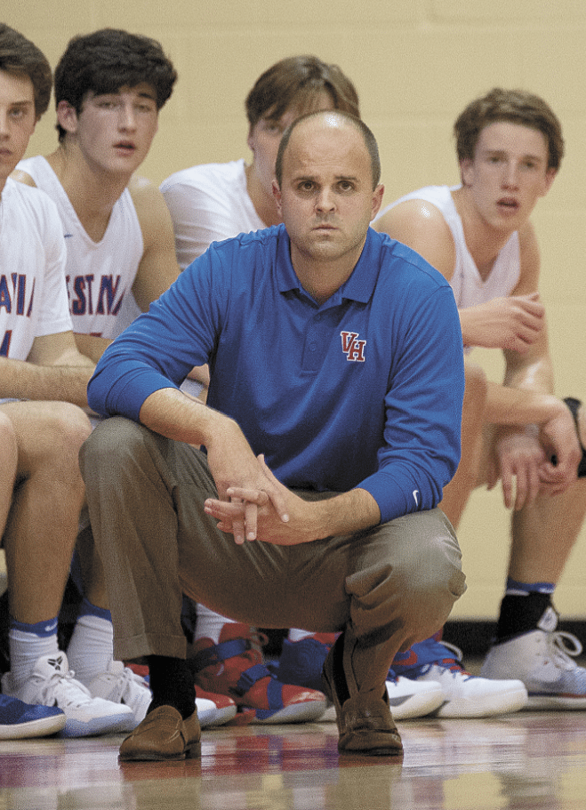 Vestavia Hills boys basketball coach Patrick Davis replacing George Hatchett, who won a pair of state championships in his three-decade tenure with the Rebels. Journal photos by Marvin Gentry.