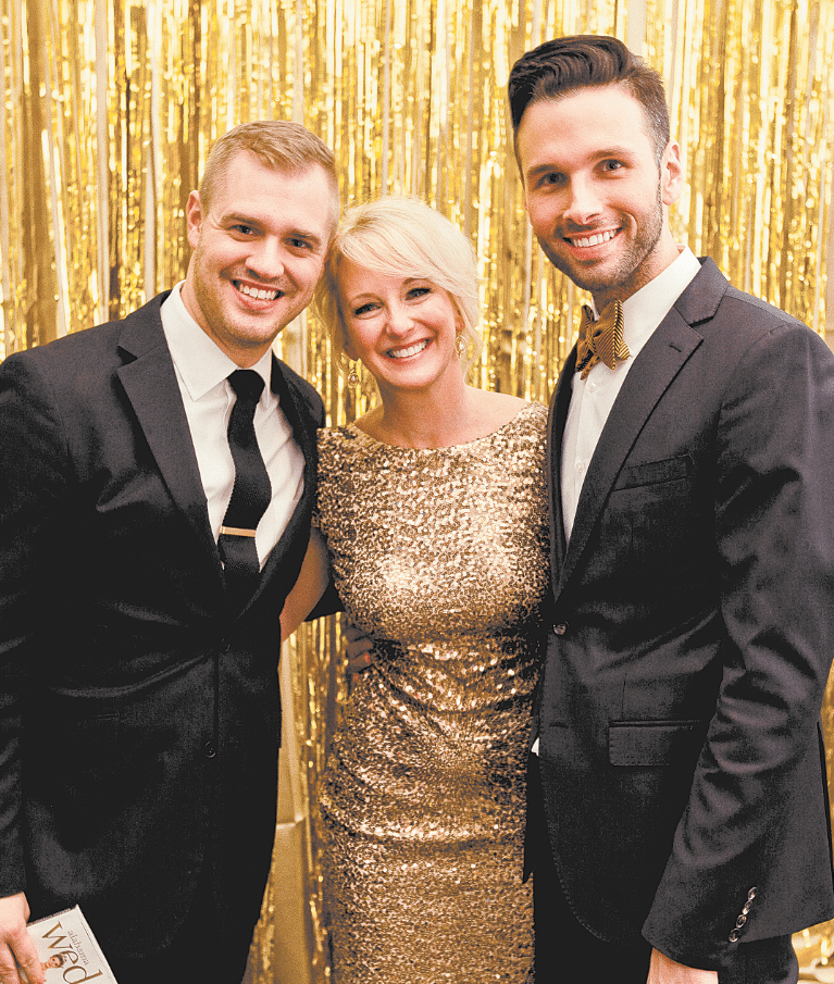 Michelle Van Every, center, owner, publisher and editor-in-chief of Alabama Wedding Magazine, with David Haugen, left, and Christopher Confero of Christopher Confero Design. Photo special to the Journal.