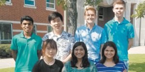 HOOVER: Front, from left: Emily Su, Areebah Nur and Sydney Biswal. Back: Rishik Hombal, Andy Kong, Austin Blanton and Conor Flannelly. Photo courtesy of Hoover High School.