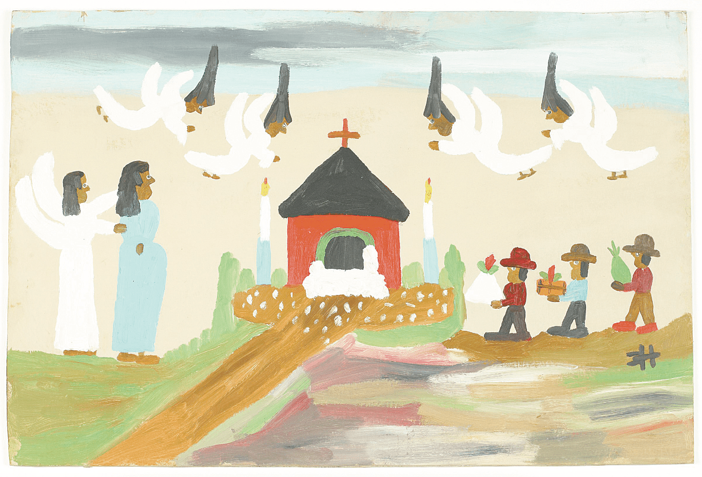 Pregnant Nativity by Clementine Hunter (United States), 1970