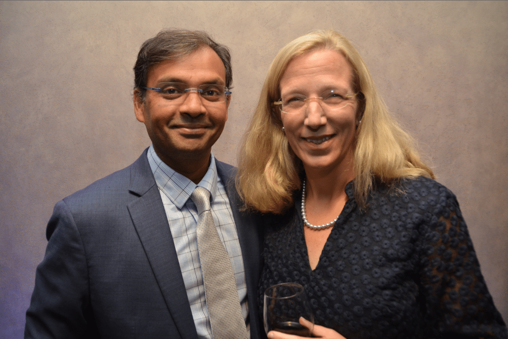 Sunil Sudarshan and Margaret Boozer. Journal photo by Jordan Wald.