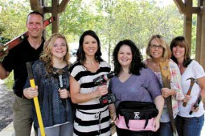 Members of the 2012 Young Life Banquet Committee get ready for the Built to Last banquet. They are, from left: Jason Zinn, Jamie Ankenbrandt, Whitney Reidinger, chairman Ashley Murray, Susie Ankenbrandt and Julie Tapscott.