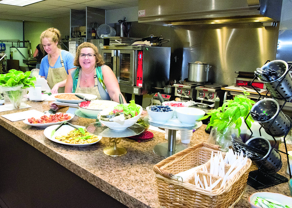 Linda Croley's Bare Naked Noodles cafe has breakfast, brunch and lunch -- then morphs into a pasta-making place at night. Journal photo by Lee Walls Jr.