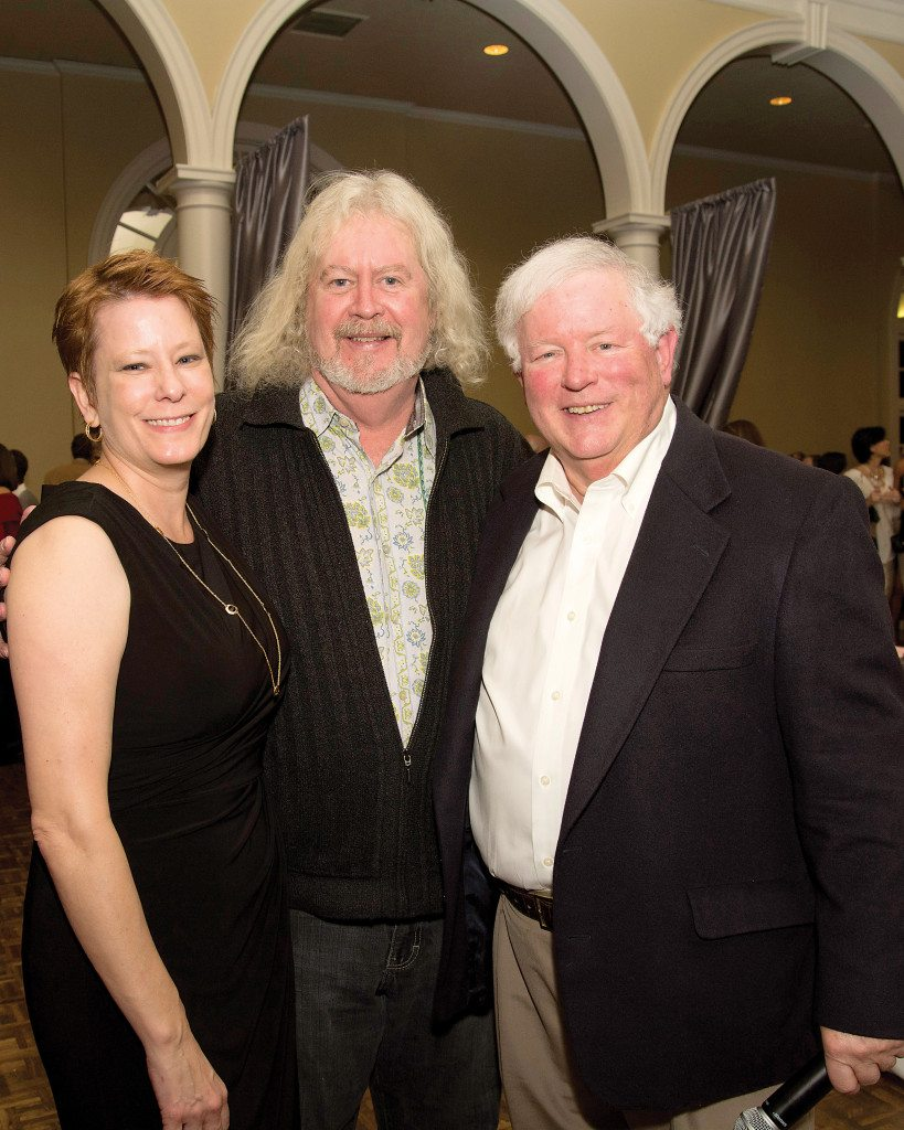 From left: Natalie Linton, Jim Clendenen of Au Bon Climat, the honorary chairperson for last year's auction, and executive director Tom Miller. Photo special to the Journal
