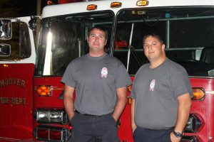 Jeff Hilton and Justin McKenzie with the Hoover Fire Department