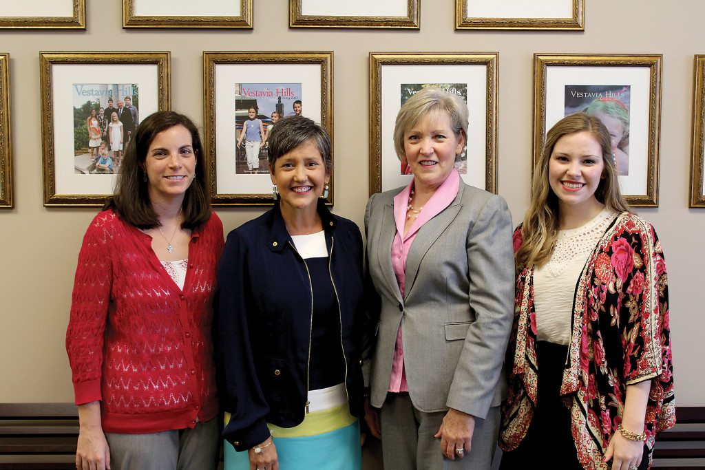 Members of the Vestavia Hills Chamber of Commerce, from left, Katie Woodruff, Lisa Christopher, Karen Odle and Katie Guenn. Journal photo by Emily Williams