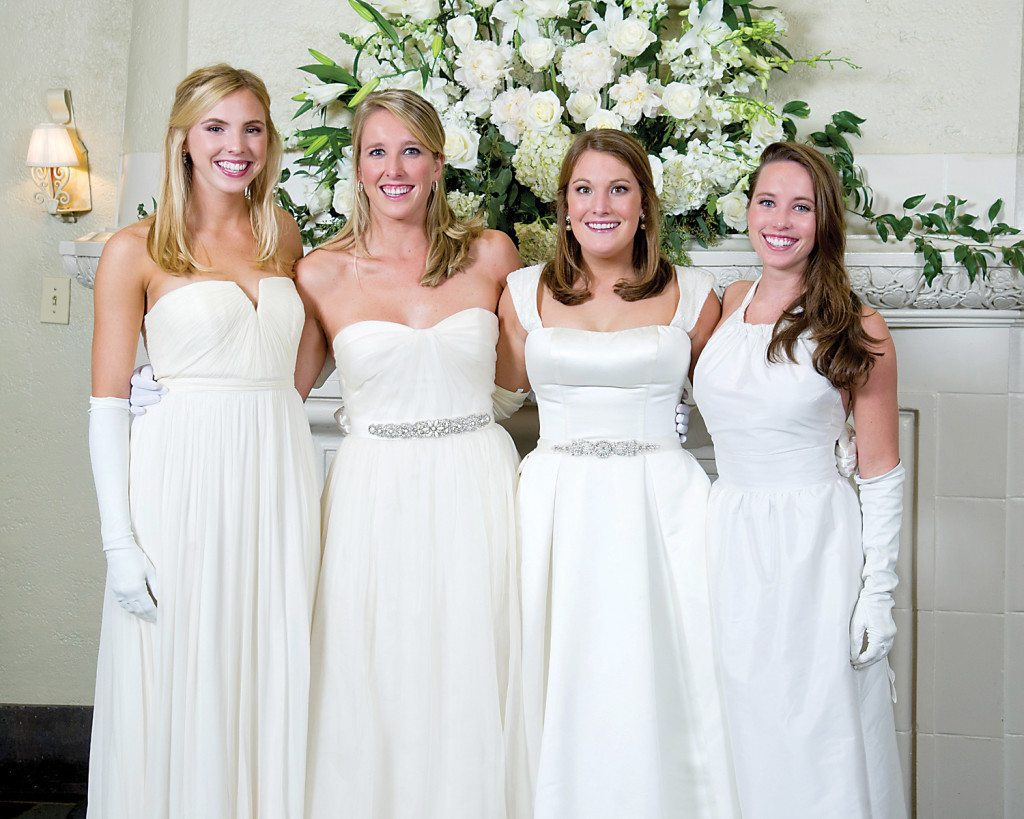 From left: Kaki Simpson, Elizabeth Coleman, Adelaide King and Caroline Sparrow.