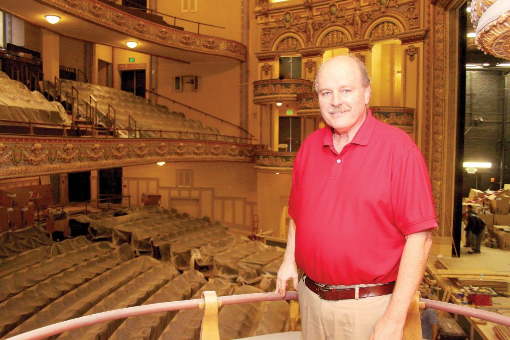 Brant Beene, executive director of Birmingham Landmarks, is busy at work preparing for the Jan. 14 opening of the newly-renovated Lyric Theatre. Journal photo by Kaitlin Candelaria