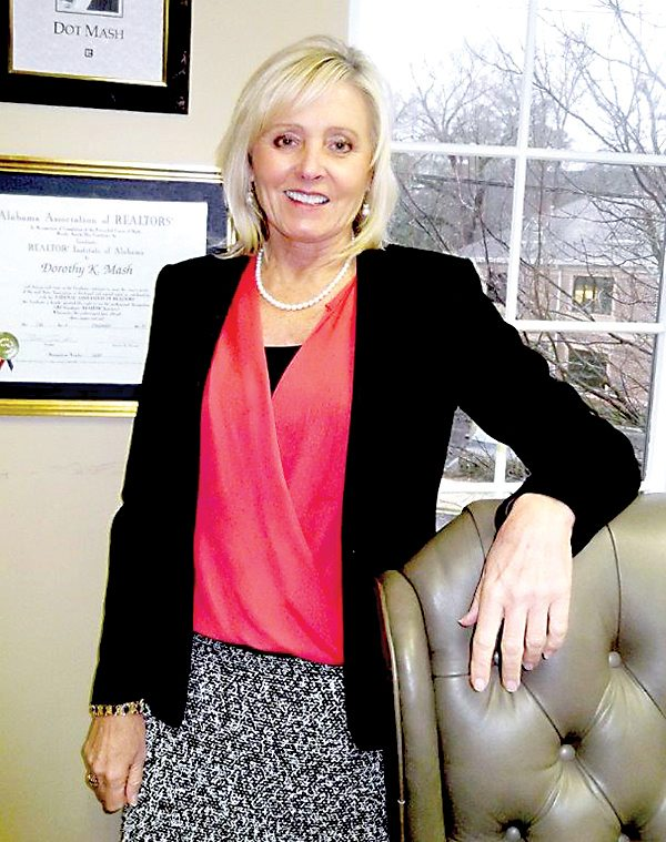 Dot Mash, above, is the 2016 Birmingham Association of Realtors president and a Realtor with LAH Real Estate. Photo special to the Journal.