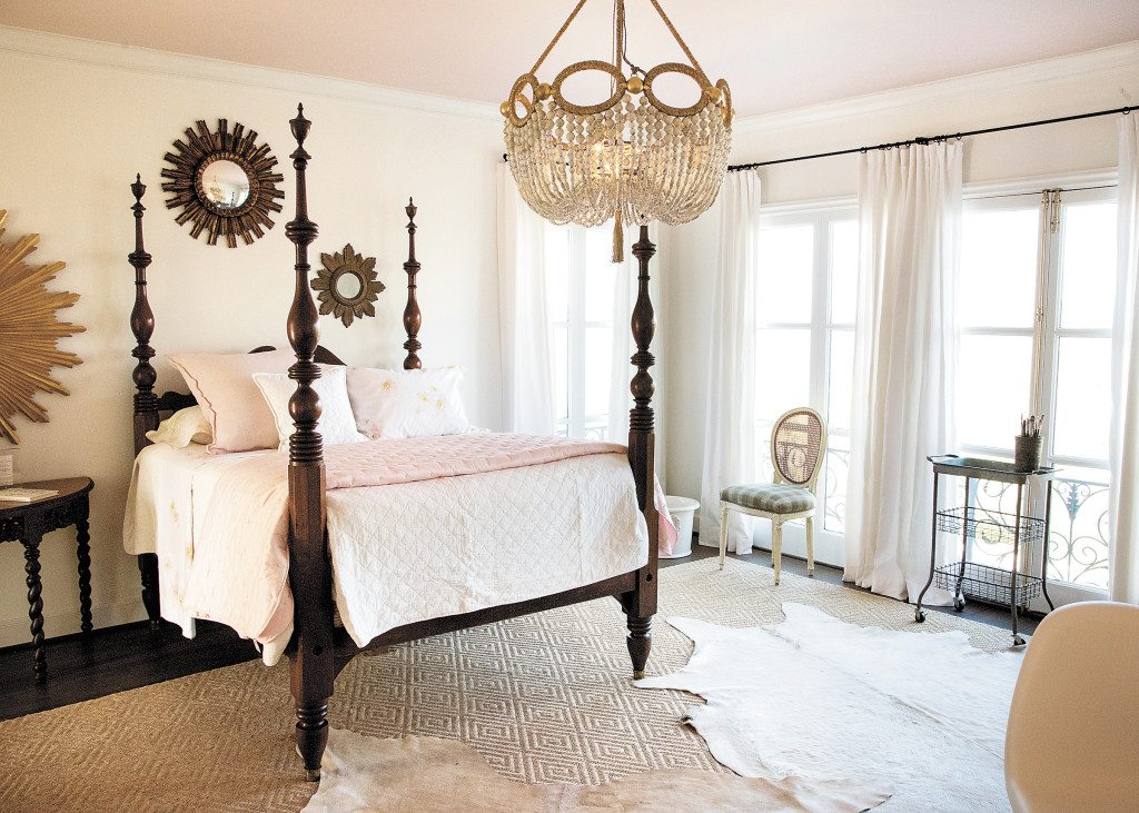 The bed in Lesley McRae's upstairs bedroom belongs to her daughter, Charlotte, whom McRae said she had in mind when she designed the room.