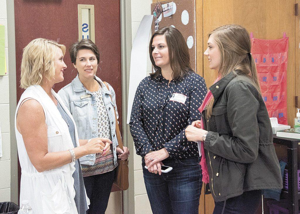 From left: Shelley Sumner, Vestavia Hills teacher; Debbie Castleberry, PTO member; Angie Saia, PTO member; and Sarah Lovell, Vestavia Hills teacher. Journal photos by Lee Walls Jr.