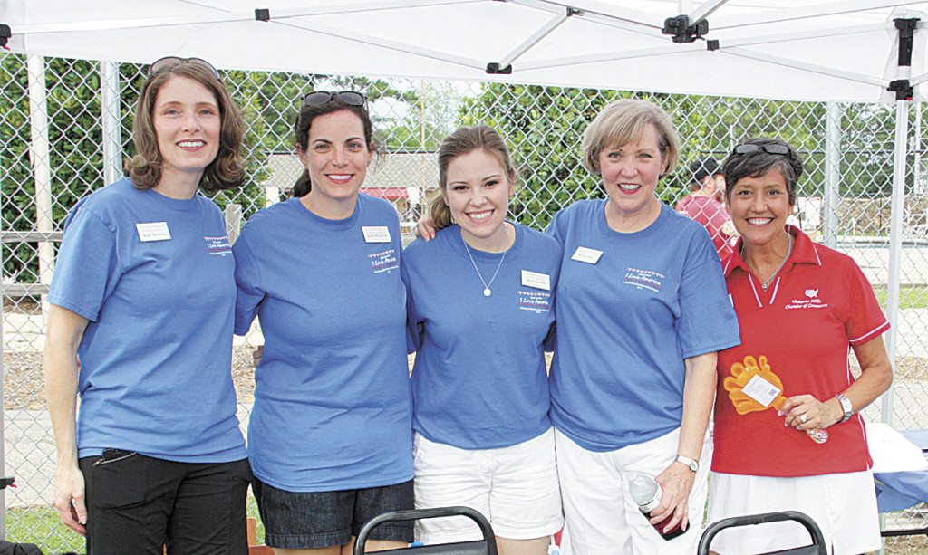 From left: Angie McEwan, Katie Woodruff, Katie Geurin, Karen Odle and Lisa Christopher. Photo special to the Journal.