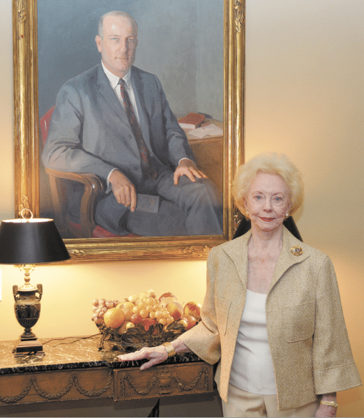 Though Gloria Moody's husband died 24 years ago, his legacy lives on in the Frank M. Moody Music Building at UA, which, at his wife's strong urging, he was instrumental in building. Journal photo by Jordan Wald.
