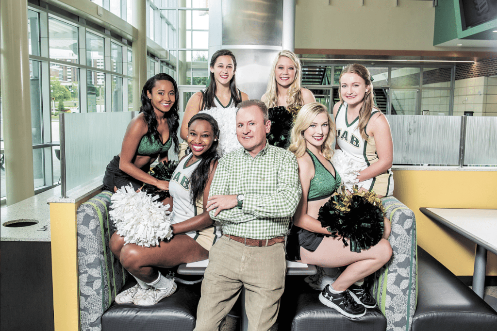 As a 1986 criminal justice graduate and longtime Birmingham businessman, Wes Calhoun, above, has the perspective, the connections and the enthusiasm to champion the College of Arts and Sciences. Photo by Nik Layman.