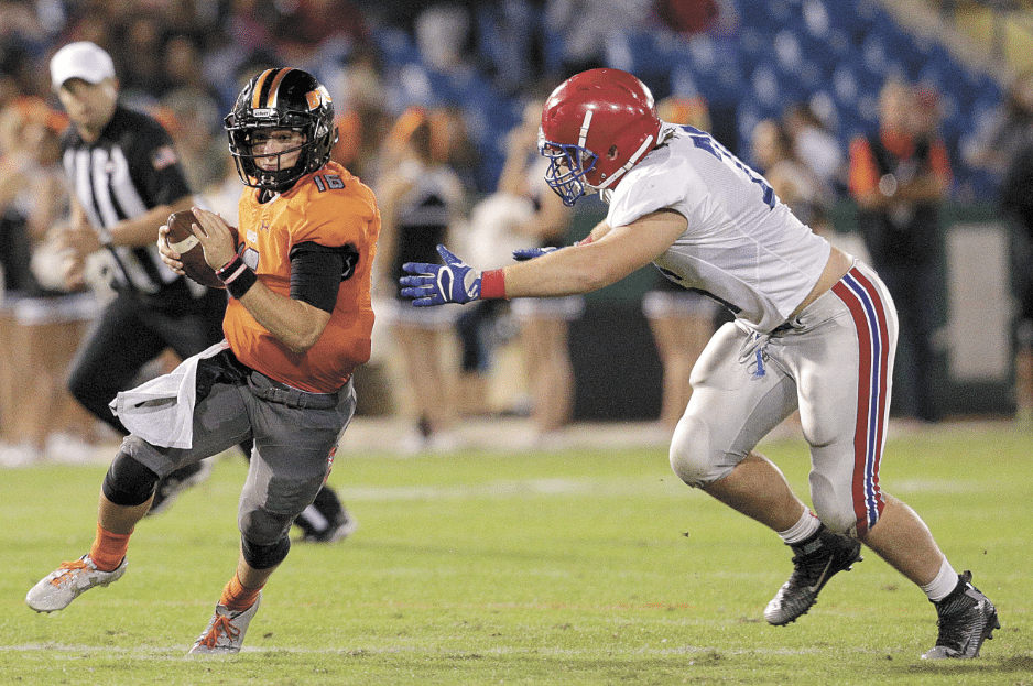 The Buc offense led by quarterback Garrett Farquhar compiled a whopping 302 yards in the first half.