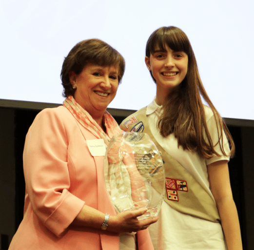 Nancy Goedecke, left, was presented with the Mildred Bell Johnson Lifetime Achievement award at the 2016 Women of Distinction Ceremony. Photo special to the Journal.