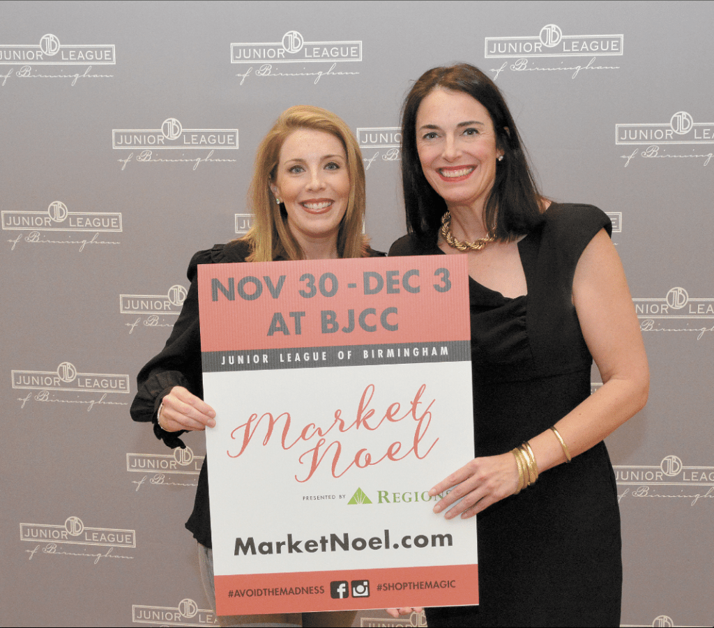 Junior League of Birmingham members Sally McKay, left, and Julia Meyers are heading up this year's Market Noel.