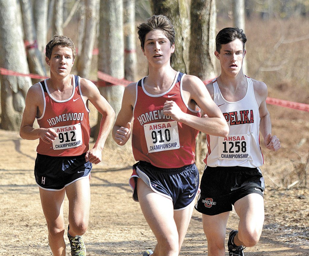 Will Stone, a Patriot sophomore, easily won the individual title with a time of 16:01.60. Todd Thompson/RiverCat Photography.
