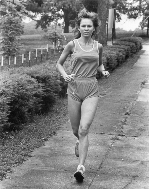 Melinda Underwood began running in the late seventies, above. She became the first female president of the Birmingham Track Club, in 1982. Photo special to the Journal.