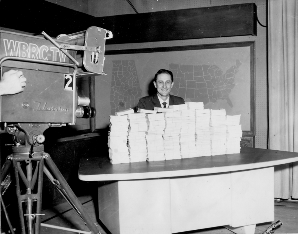 A favorite assignment of York's was hosting the Dialing For Dollars Early Show. Photo special to the Journal.