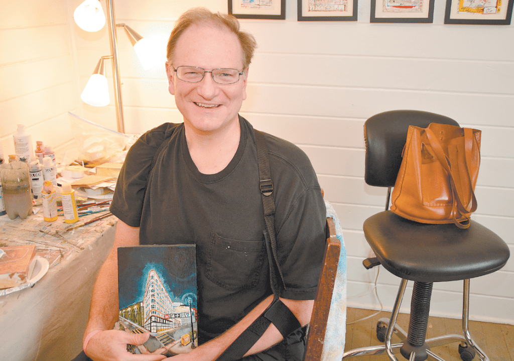 Paul Ware, along withmany other notable artists, will be exhibiting in the Riverchase Loves Artists show, Feb. 4 at the Riverchase Country Club. Journal photo by Jordan Wald.