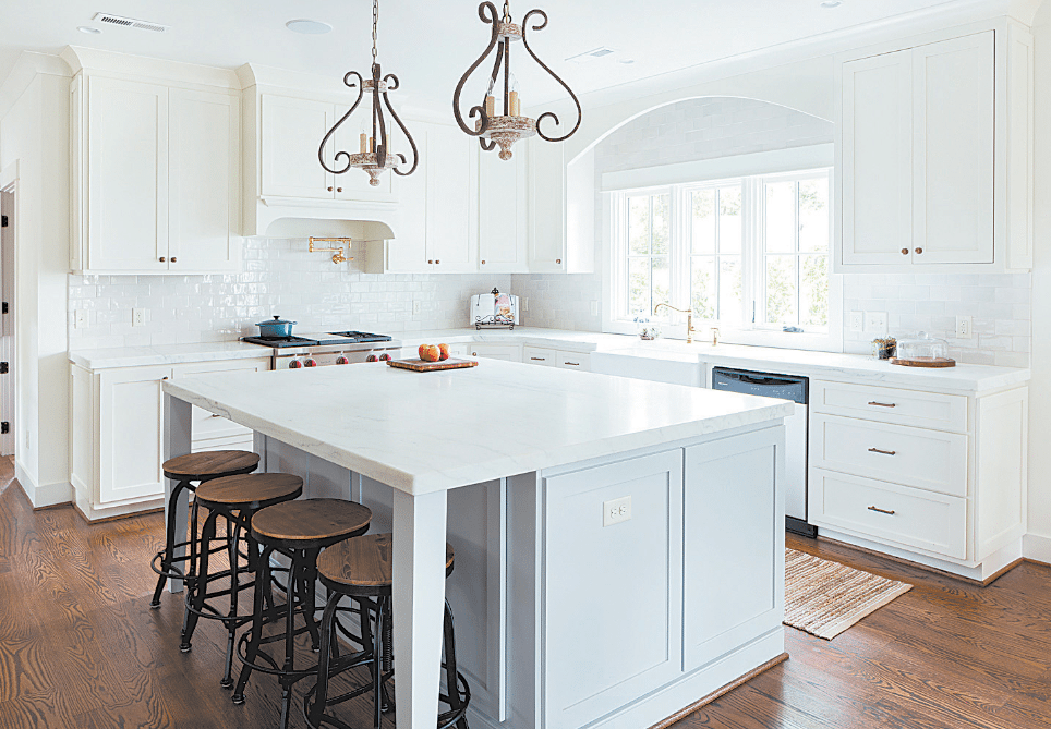 Willow Design Studios' Allison Hallman said her firm last year worked on 25 Homewood houses, either total construction projects or major remodels. Below, a recent teardown on Broadway. Photos courtesy of Willow Design Studios.