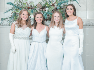 From left: Mary Keller Greene, Brooke Frances Tucker, Emily Ruffner Hillhouse and Lillian Harris Simpson.
