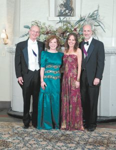 From left: Redstone Club President George C. Thompson and wife Nancy, with ball chairman C. Duncan Hulsey II and wife Kelly.